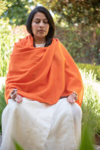 Acharya Shunya Meditating in the Early Morning