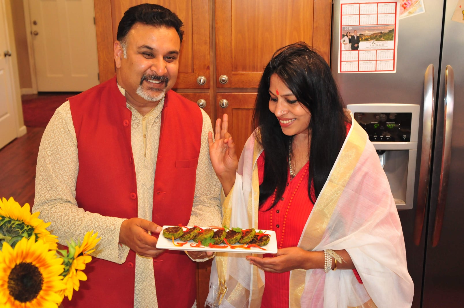 Acharya-Shunya-with-her-Chef-Husband-Sanjai